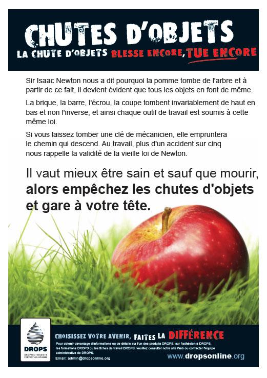 Newton Poème Pomme Français French Dropsonline